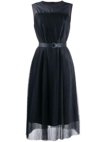 Платье миди в рубчик сетчатое Fabiana Filippi