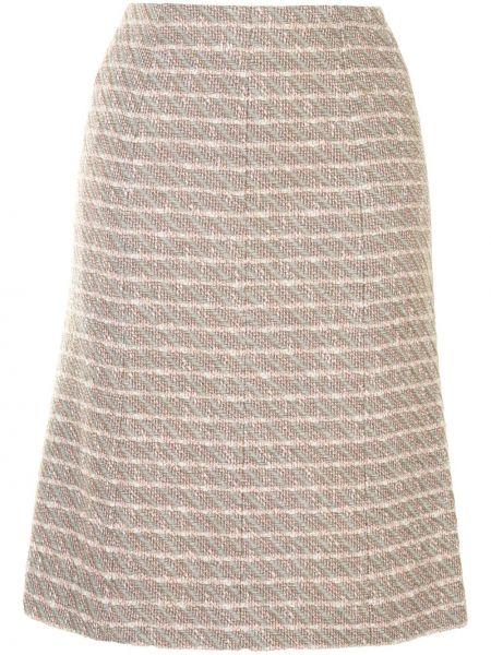 Нейлоновая прямая с завышенной талией юбка на молнии Chanel Pre-owned