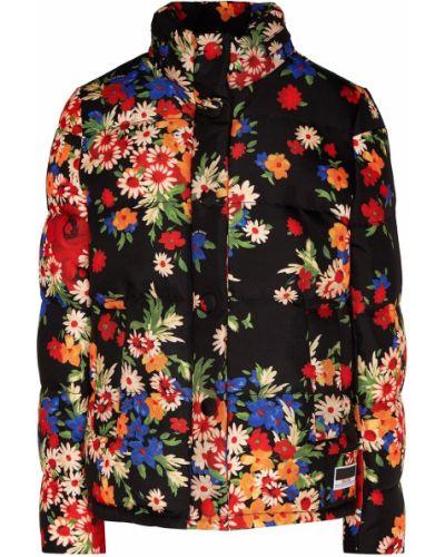 Текстильная стеганая куртка на пуговицах с карманами с воротником Miu Miu