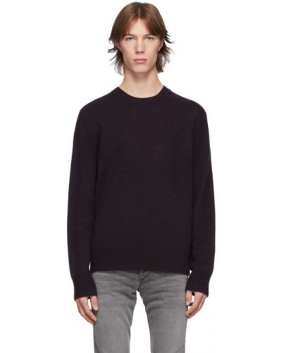 Малиновый кашемировый длинный свитер с воротником Rag & Bone