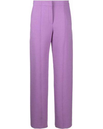 Фиолетовые шерстяные брюки Salvatore Ferragamo