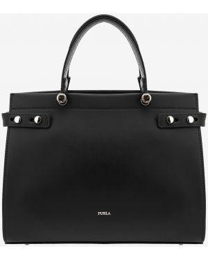 Кожаная сумка на руку с ручками Furla