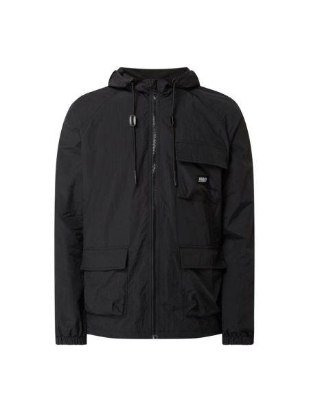 Czarna kurtka z kapturem miejska Urban Classics