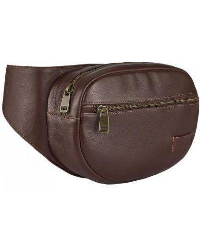 Кожаная поясная сумка - коричневая Vittorio Safino