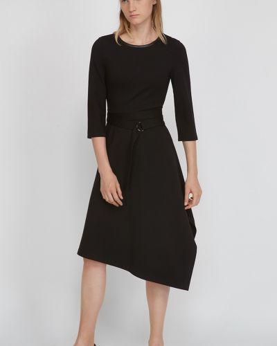 Трикотажное платье - черное Vassa&co