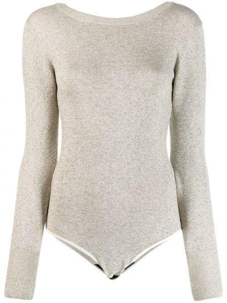 Длинный свитер в рубчик металлическое Forte Forte