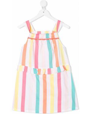 Пышное платье с рукавами в полоску Billieblush