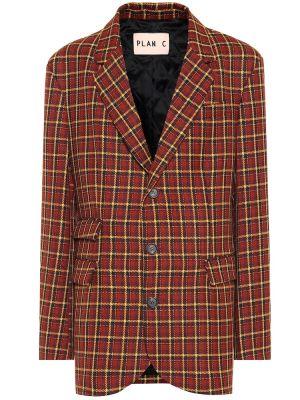 Пиджак шерстяной прямой Plan C
