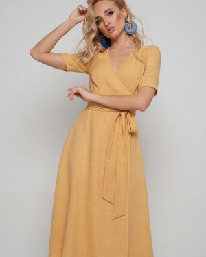 Платье с поясом с запахом платье-сарафан Leleya