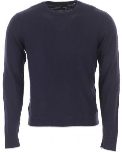 Szary z kaszmiru sweter Armani Exchange