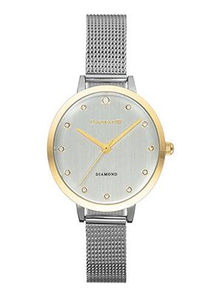 Кварцевые часы с круглым циферблатом серые Earnshaw