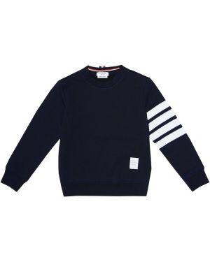 Темно-синий свитер Thom Browne Kids