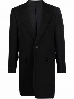 Шерстяное пальто - черное Ami Paris