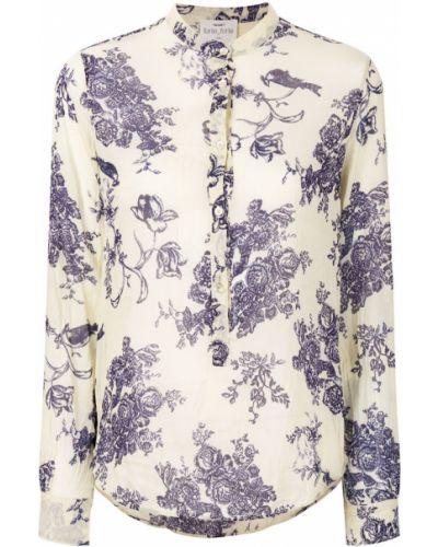 Блузка с цветочным принтом хлопковая Forte Forte