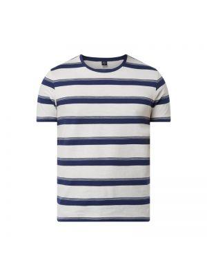 Biały t-shirt w paski bawełniany S.oliver Red Label