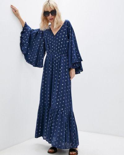 Синее платье-туника Pilyq