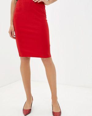 Облегающее платье красный осеннее Top Secret