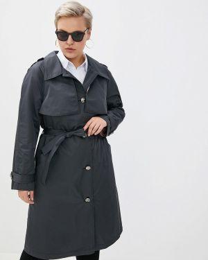 Плащ серый авантюра Plus Size Fashion