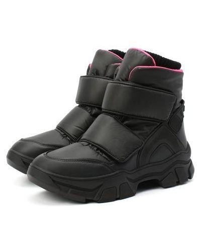 Комбинированные кожаные ботинки с подкладкой Jog Dog