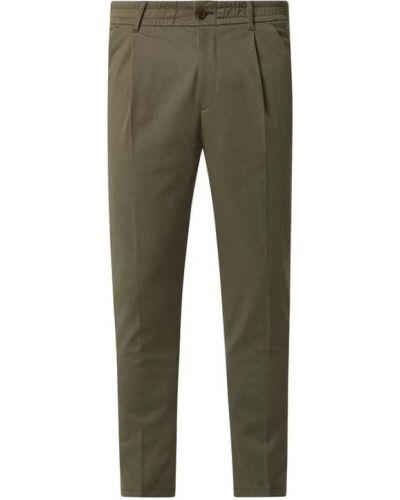 Zielone spodnie bawełniane Drykorn