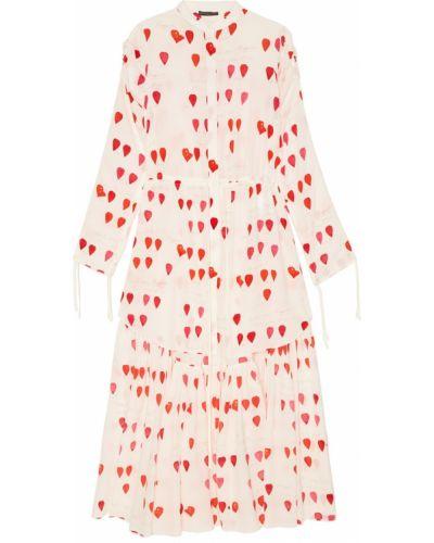 Платье на пуговицах шелковое Alexander Mcqueen