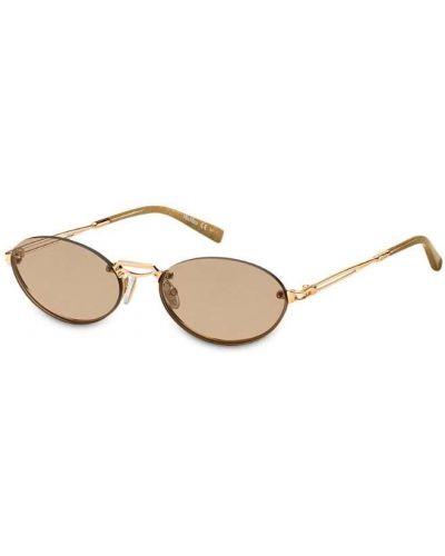 Солнцезащитные очки с логотипом - желтые Max Mara