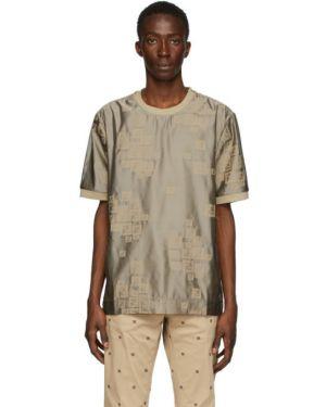 Koszula krótkie z krótkim rękawem z wiskozy z kołnierzem Fendi