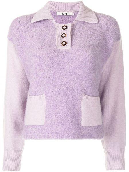 Шерстяная рубашка - фиолетовая Sjyp