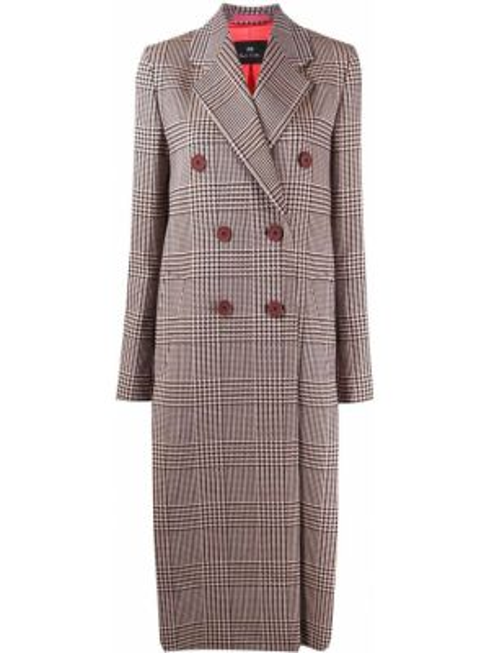 Długi płaszcz z kieszeniami podwójnie Ps Paul Smith