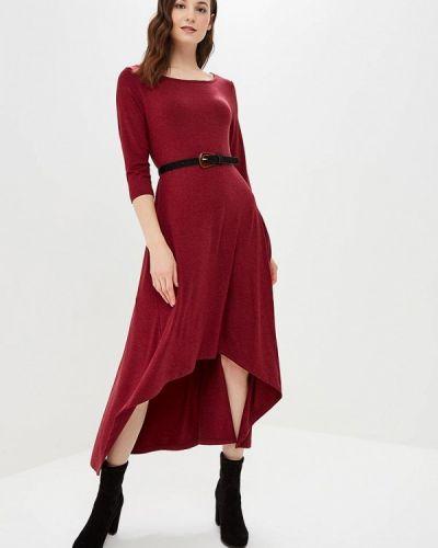 Платье бордовый красный Lada Kalinina