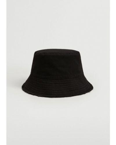 Czarna kapelusz Mango