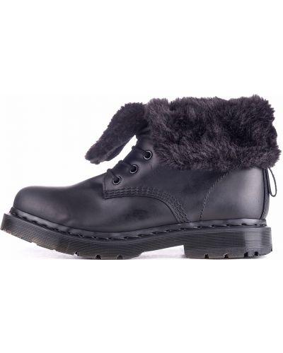 Черные кожаные ботинки с шипами Dr Martens