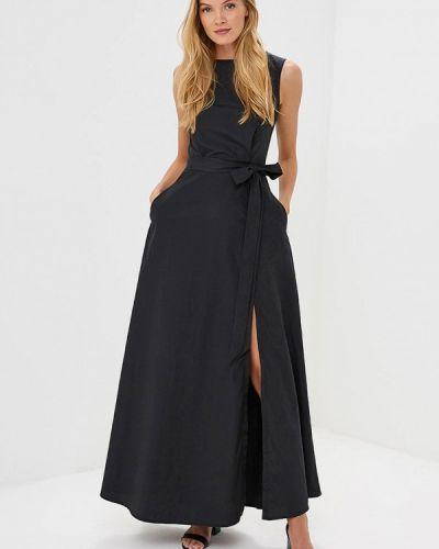 Платье макси черное Pepen