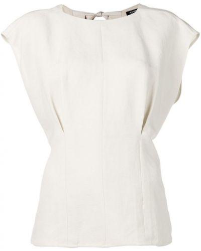 Блузка свободного кроя короткая Jil Sander Navy