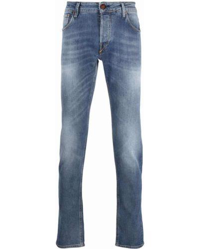 Niebieskie mom jeans z paskiem Hand Picked