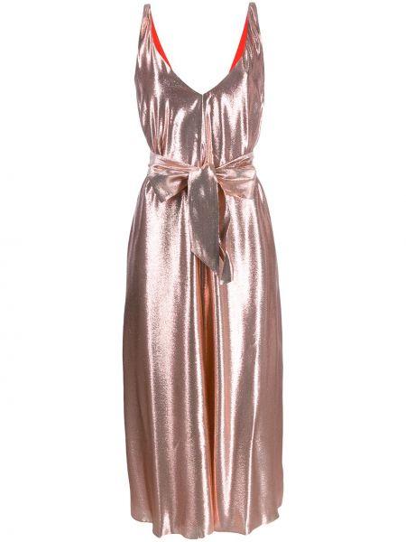 Платье с поясом с декольте с V-образным вырезом Indress