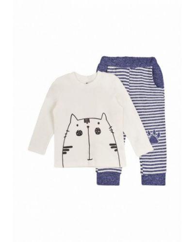Пижама белая синяя Garnamama