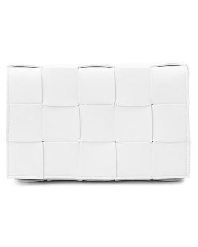 Кожаная белая сумка через плечо Bottega Veneta