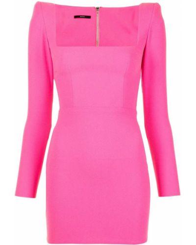 Платье макси длинное - розовое Alex Perry