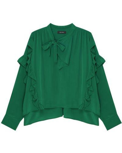 Блузка с пышными рукавами зеленый Isabel Marant