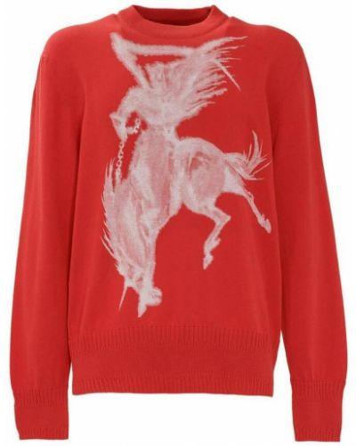 Czerwony sweter z printem Givenchy
