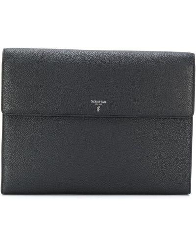 Кожаная сумка - черная Serapian