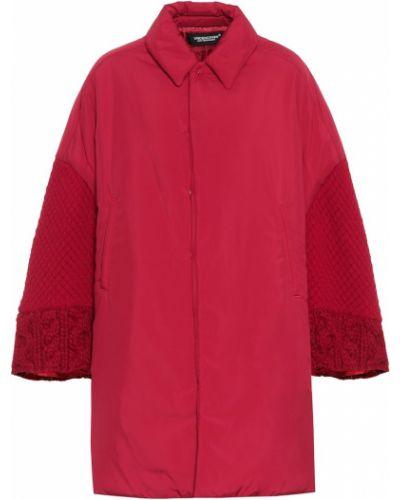 Шерстяное пальто с опушкой Undercover