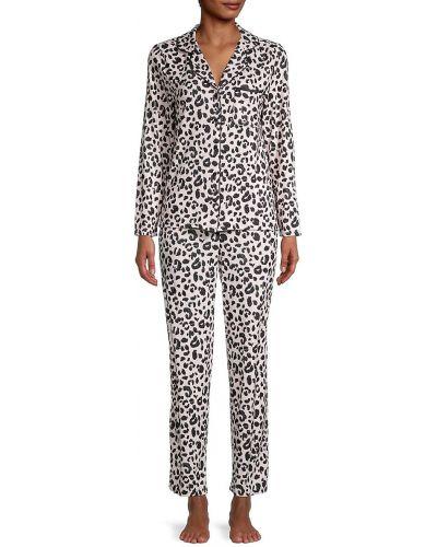 Черная пижама с длинными рукавами с карманами Kate Spade New York