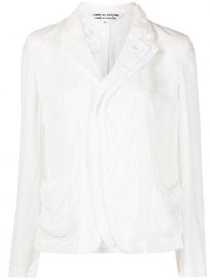Белый пиджак с воротником с лацканами Comme Des Garçons Comme Des Garçons