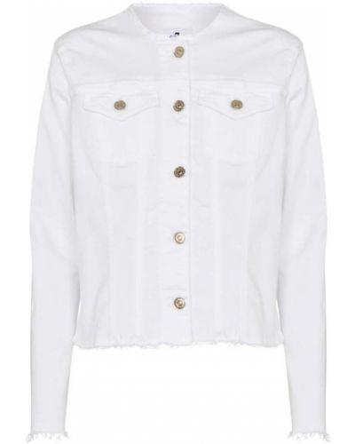 Хлопковая ватная белая джинсовая куртка 7 For All Mankind