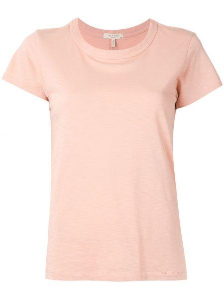 Prosto różowy koszula z krótkim rękawem z perłami krótkie rękawy Rag & Bone