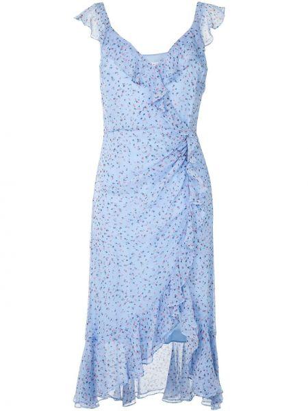 Шелковое платье со вставками с V-образным вырезом без рукавов Veronica Beard