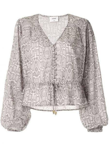 Хлопковая блузка - серая Suboo
