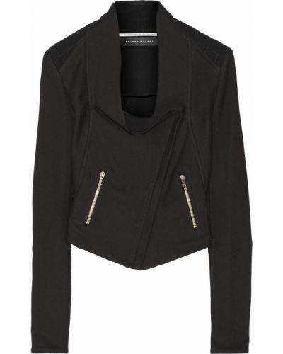 Хлопковая ватная черная куртка Roland Mouret